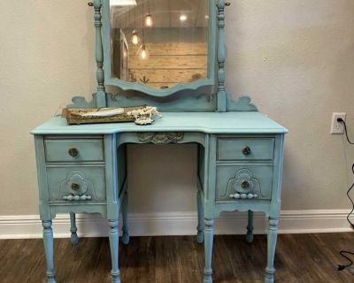 Solid wood antique vanity: delivery available for a fee