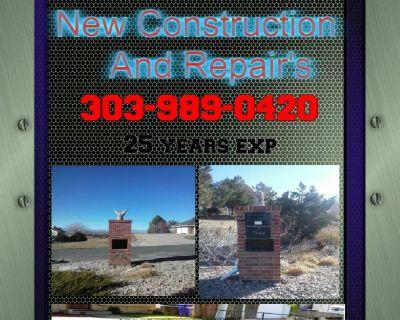 Brick / Block & Stone New Constuction and repairs 303-989-0420