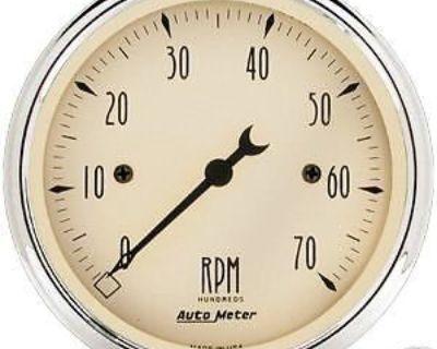 """Auto Meter Antique Beige Elect 3 1/8"""" Tachometer #1898"""