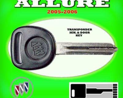 05 06 Buick Allure Transponder Chip Ignition Key Blank