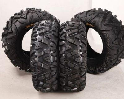 New Promotion! Set Of 4 New Sun.f Atv Tires At 26x9-14 Front & 26x11-14 Rear 6pr