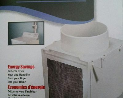Extra Heat for your Home - Dryer vent heater heating box from Deflecto