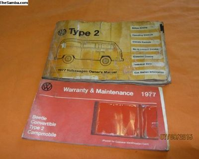 1977 bus owner's manual