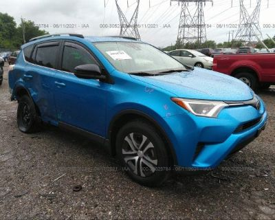 Salvage Blue 2017 Toyota Rav4