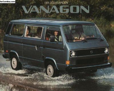 1984 Vanagon brochure