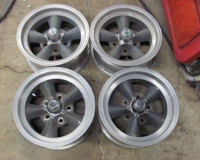 Vintage Set Of 4 Et 14x6.75 Alloy Wheels Rims Torq Thrust Camaro Nova