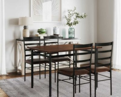 Dining Set - New 5pc dining set - Wood & Metal - free local Delivery