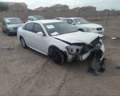 Salvage White 2014 Chevrolet Impala Limited
