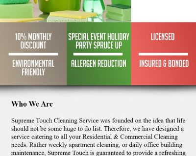 Supreme Touch Cleaning Service