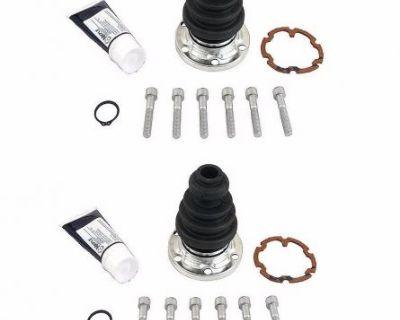 2-pcs Front Or Rear Inner Cv Joint Boot Kit Meyle 443 498 201 Bmy Audi Vw Ns