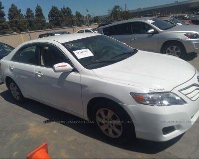 Salvage White 2010 Toyota Camry