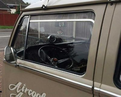 Front door vent trims by Aircooled Accessories.