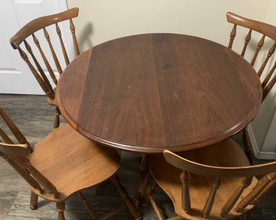 Wood Dining Table & four chairs