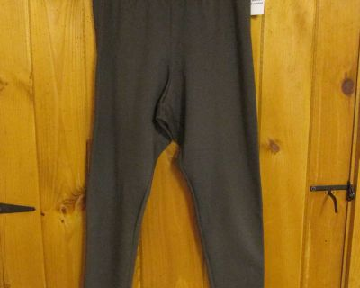 NWT Old Navy XL fleece-lined; charcoal; cotton/poly/spandex leggings