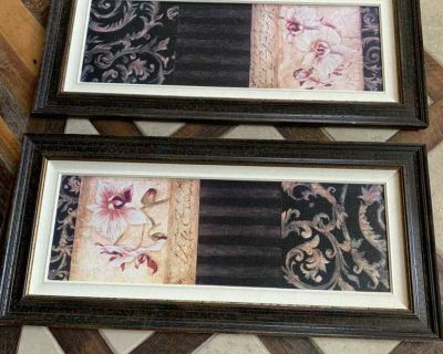 2 large pictures . Purchased at a boutique for $130 ea 45x20.5 ea