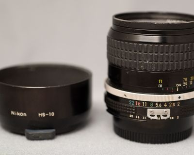 Nikkor 85mm f/2 early AI. -- $215