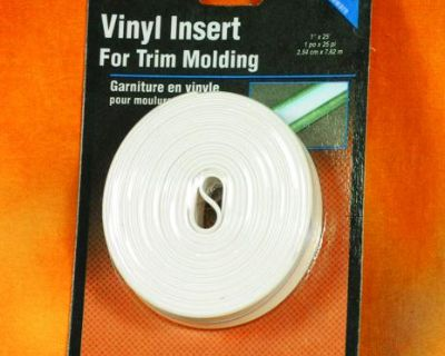 """Camco 25163 Insert Molding Trim3/4"""" White 25 Foot"""