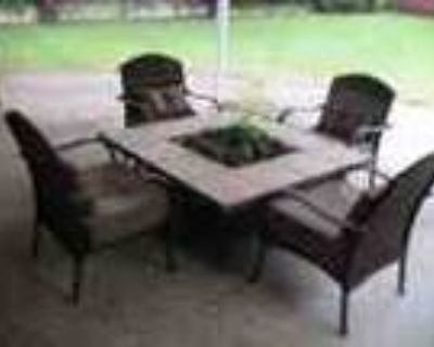 Outdoor Firepit Table And 4 Chairs