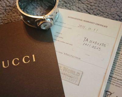 Authentic Silver Cuff Gucci Watch