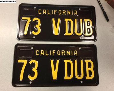 73 V DUB California Black Plates