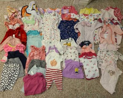 59 pcs Baby girl clothes 0-3 months