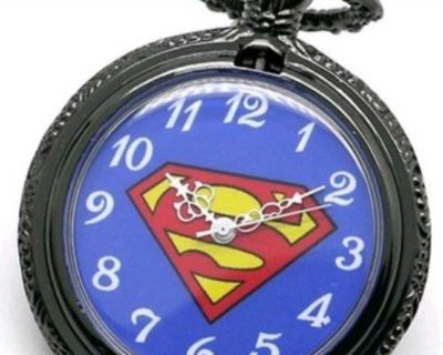 Superman pocket watch battery included