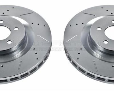 PowerStop Front Drilled & Slotted Brake Rotors 2005-2020 Challenger (4-Piston Brembo)
