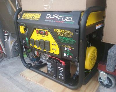 champion dual fuel generator 9000 watts factory refurbished