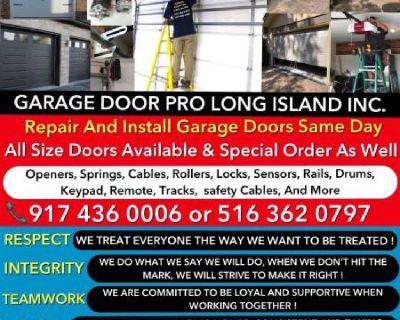 ALWAYS PROFESSIONAL GARAGE DOOR REPAIR AND INSTALLATION SERVICE NY& LI