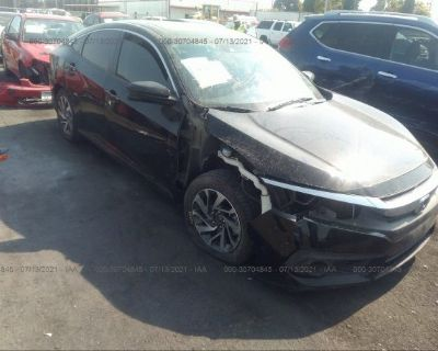 Salvage Black 2016 Honda Civic Sedan