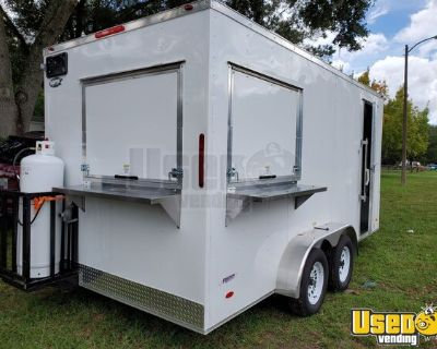 BRAND NEW 2021 Freedom Snapper 7' x 16' Commercial Kitchen Concession Trailer