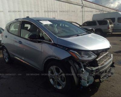 Salvage Blue 2017 Chevrolet Bolt Ev