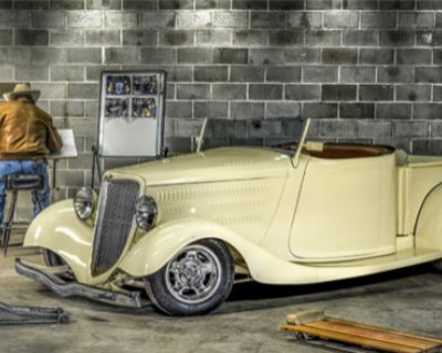 1934 Ford 1/2 Ton Pickup 2-door All-Steel Chopped Convertible Deluxe Pickup Restored Roadster Truck V8-8