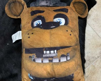 Five nights at freddys large throw pillow
