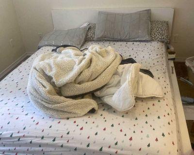 Queen mattress/box spring + bed frame