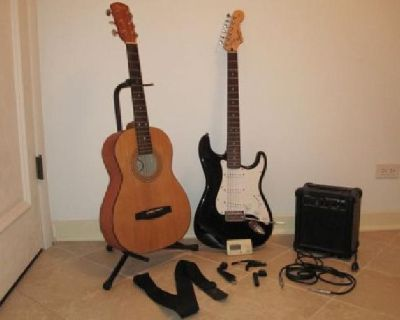 $300 Guitars & Amp w/tuner