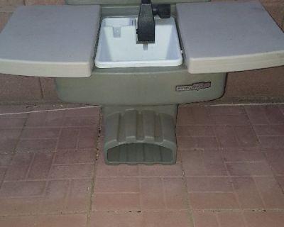 backyard sink and hose holder