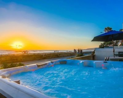 ~40' Ocean Front 3 Levels Hot Tub Exclusive Patio - Mission Beach