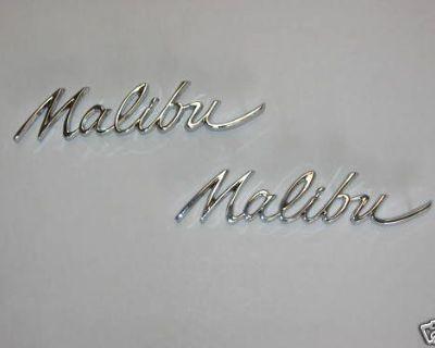 64 Chevelle Malibu Quarter Panel Emblems