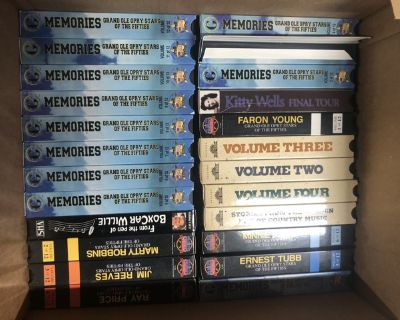 Old western VHS tapes and player