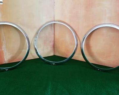 Three Hella OEM Chrome Headlight Rims