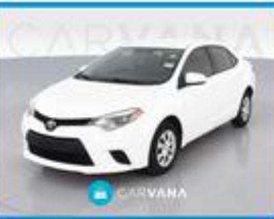 2016 Toyota Corolla White, 52K miles