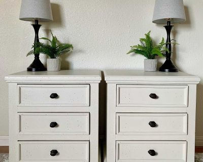 2 Newly Refurbished Solid Wood Nightstands