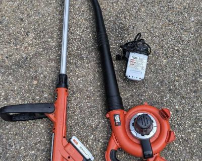 Battery Powered Weed Whacker and Leaf Blower