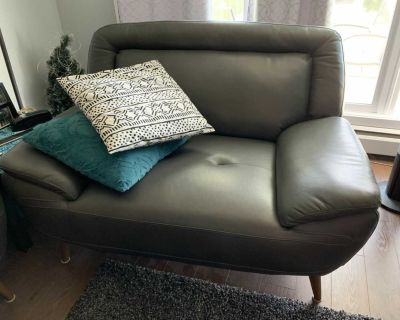 Comfy Gray Couch and Chair