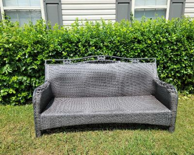 Resin wicker couch