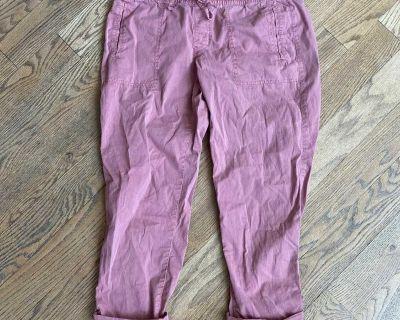 Mauve/pink casual pants, size 8