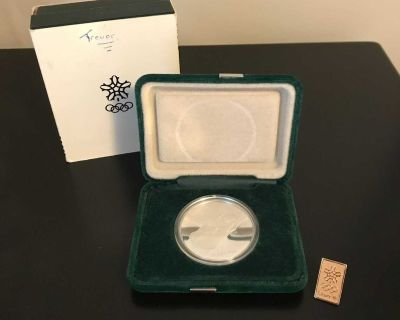 1988 Olympic Silver Coin & Lapel Pin