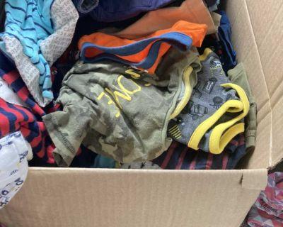 Box of toddler boy clothes $20