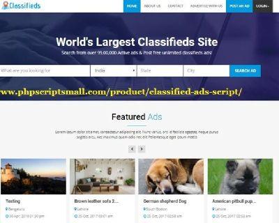 Classified Ads Script   Open Source Classified Script   Classified Script PHP